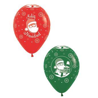 Imagens de Globos Feliz Navidad rojo y verde (12)