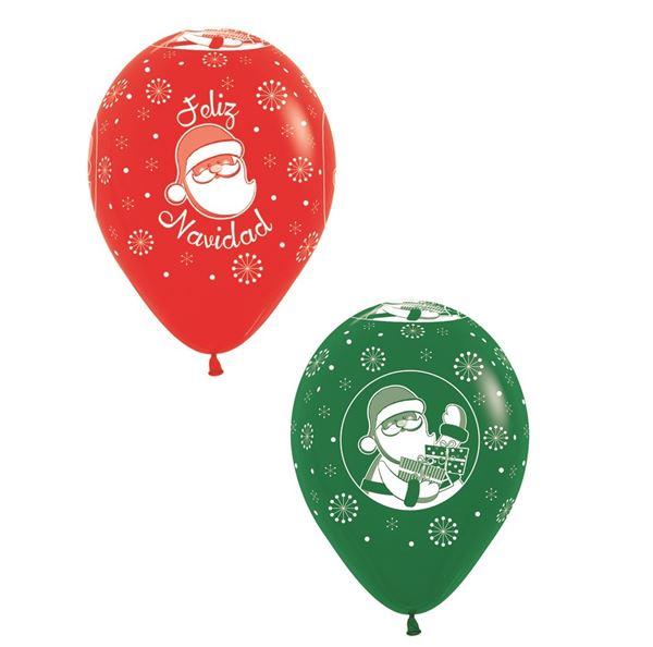 Picture of Globos Feliz Navidad rojo y verde (12)