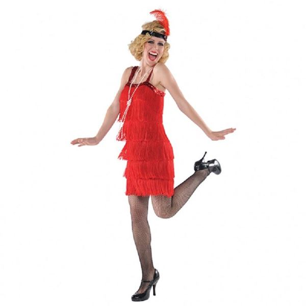 Imagens de Disfraz cabaret rojo Talla 40-42