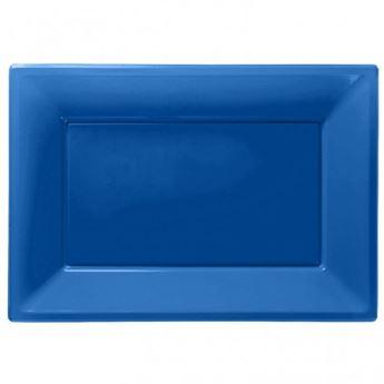 Imagen de Bandejas azul oscuro plástico (3)