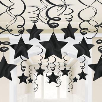 Imagen de Decorados espirales estrellas negras (30)
