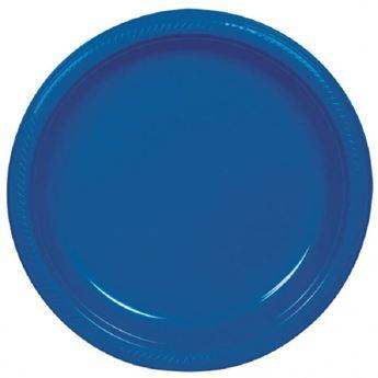 Imagen de Platos azul marino plástico grandes (10)
