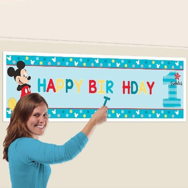 Imagens de Pancarta Gigante Mickey Mouse (1.65m x 50.8cm )