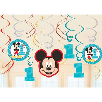 Picture of Decorados espirales Mickey Mouse 1 añito