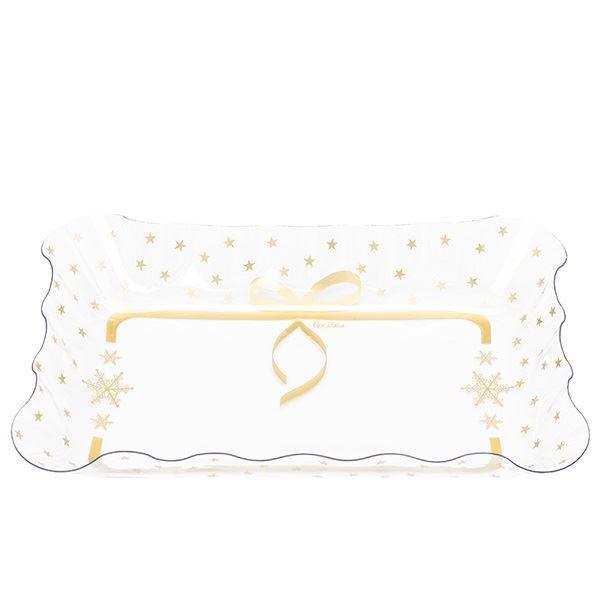 Imagen de Bandeja rectangular estrellas dorada (20cm x30cm)