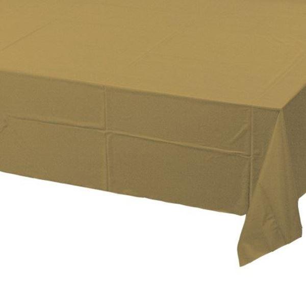Imagens de Mantel dorado plástico rectangular