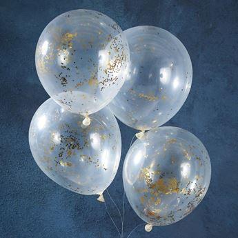 Imagen de Globos confeti estrellas doradas (5)