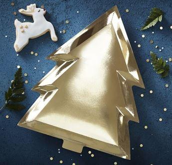 Imagens de Platos árbol navidad dorados (6)