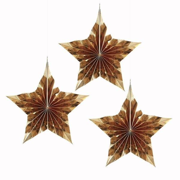 Picture of Decorados colgantes estrellas doradas (3)