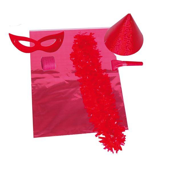 Imagens de Cotillón color rojo metálico