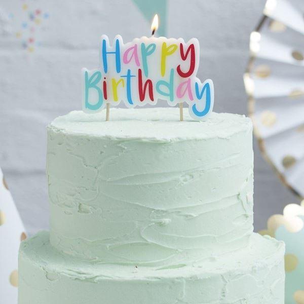 Picture of Vela Happy Birthday colores arcoiris
