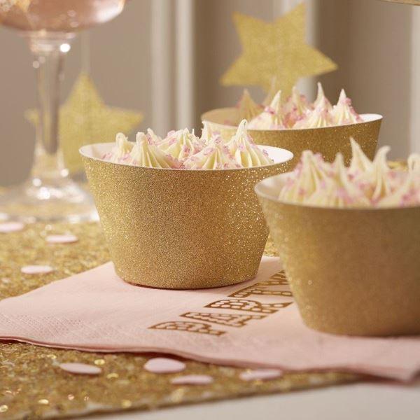 Imagen de Envoltorio cupcake dorados (10)