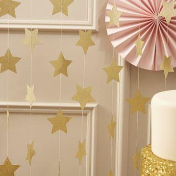 Imagen de Tiras estrellas doradas (5m)