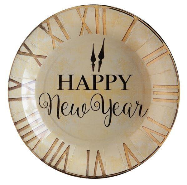 Imagen de Platos Happy New Year gold (10)