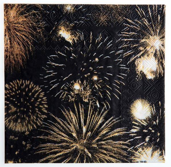 Imagen de Servilletas Happy new year gold (20)