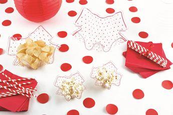 Imagen de Bol pañuelo puntos Rojos grande