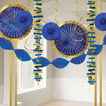 Imagen de Kit decoración especial Azul y dorado