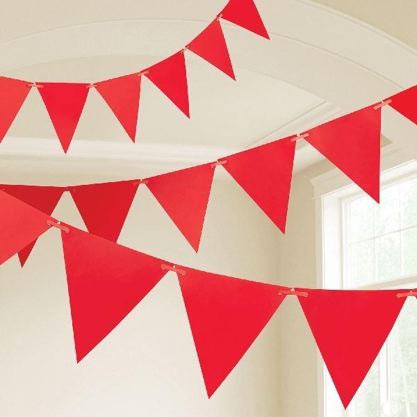 Imagen de Banderín rojo plastico (10m)