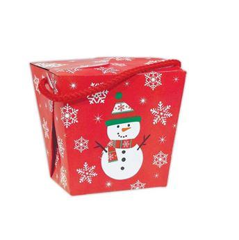 Imagen de Cajas roja muñeco nieve Navidad (6)
