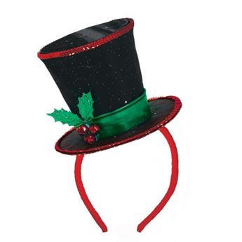 Imagen de Diadema sombrero copa navideño
