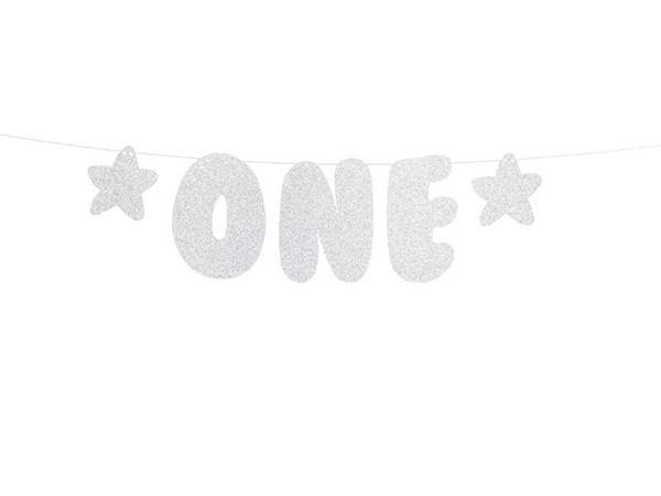 "Picture of Banderín ""ONE"" plateado (primer añito)"