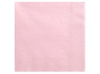 Imagen de Servilletas color rosa pastel extra-grandes (20)