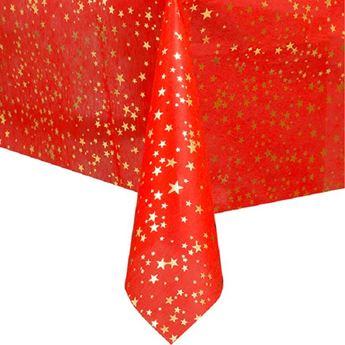 Imagens de Mantel rojo con estrellas navideño