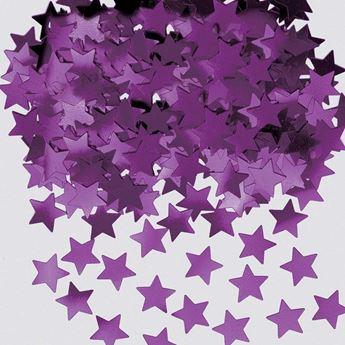 Imagen de Confeti estrellas moradas (14g)