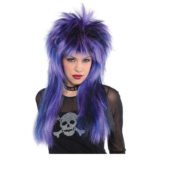 Imagen de Peluca disfraz mujer Rock