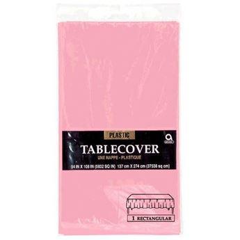 Imagens de Mantel rosa pastel plástico rectangular