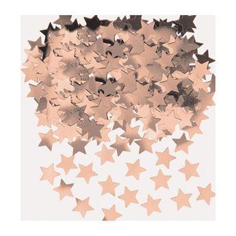 Imagens de Confeti estrellas rosa dorado (14g)