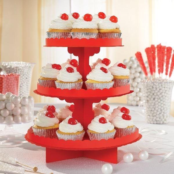 Imagens de Stand para cupcakes color Rojo