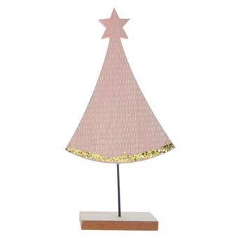 Picture of Decoracion mesa Pino Navidad Rosa grande