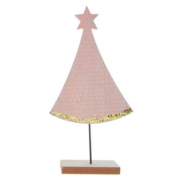 Imagen de Decoracion mesa Pino Navidad Rosa grande