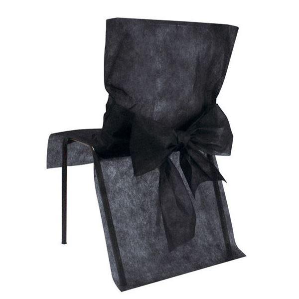 Imagen de Fundas silla negro maxi pack (10)