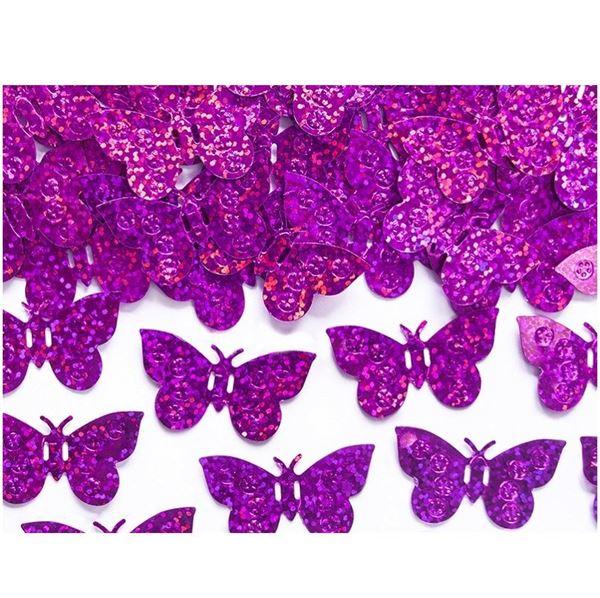 Imagen de Confeti Mariposas Rosa Holográfica (15g)