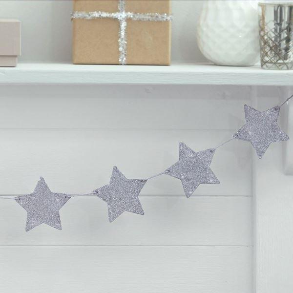 Imagens de Guirnalda estrellas plateadas
