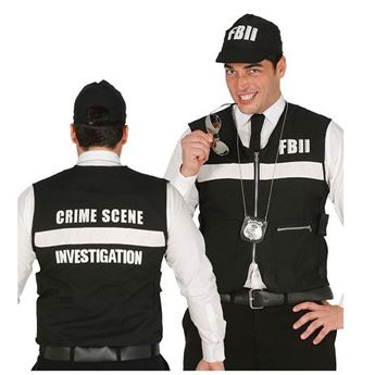 Picture of Chaleco Policía y gorra FBI