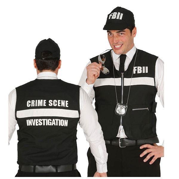 Imagen de Chaleco Policía y gorra FBI