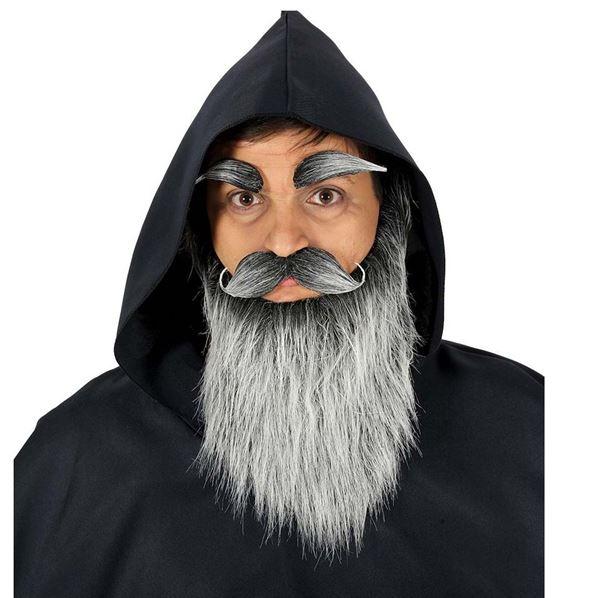 Picture of Barba larga gris con bigote y cejas