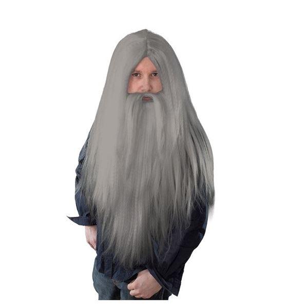 Imagens de Peluca mago gris con barba larga