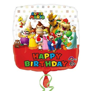 Imagen de Globo Super Mario Happy Birthday