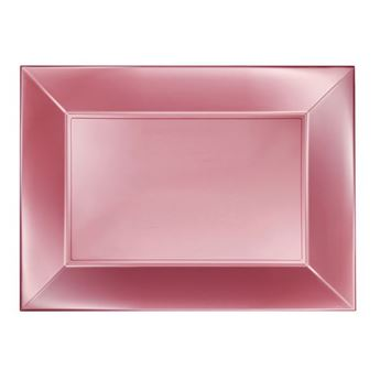 Imagen de Bandejas rosa claro satín goldplast (3)