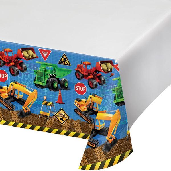 Imagen de Mantel de plástico fiesta de construcción