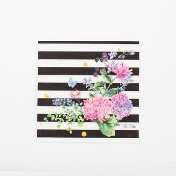 Picture of Servilletas Black & Flowers (16)