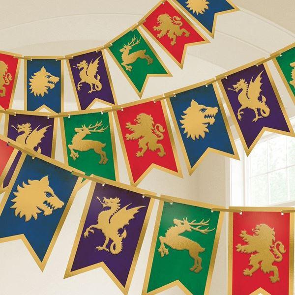 Imagen de Banderín medieval Escudos (4m)