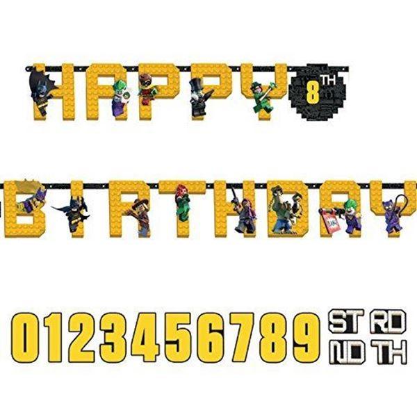 Picture of Guirnalda Happy Birthday Lego Batman