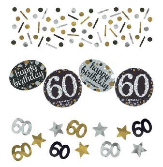 Imagens de Confeti 60 años elegante (34gr)