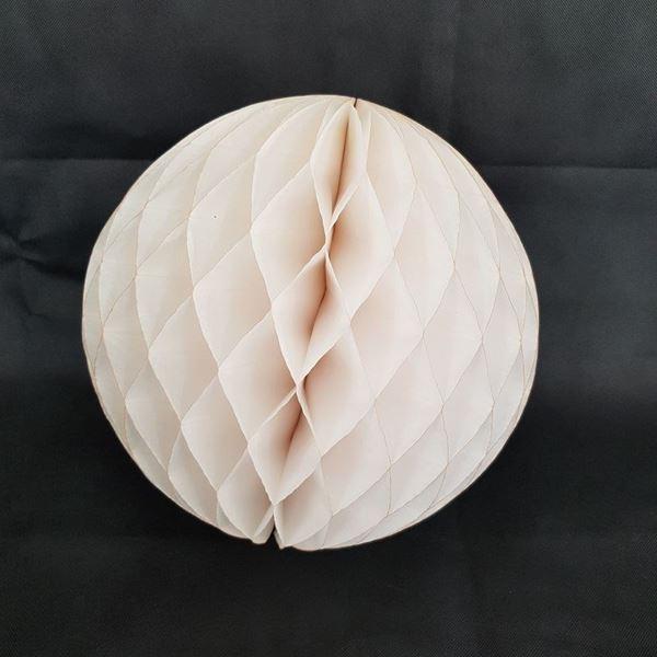 Imagens de Bola nido de abeja Ivory (30cm)