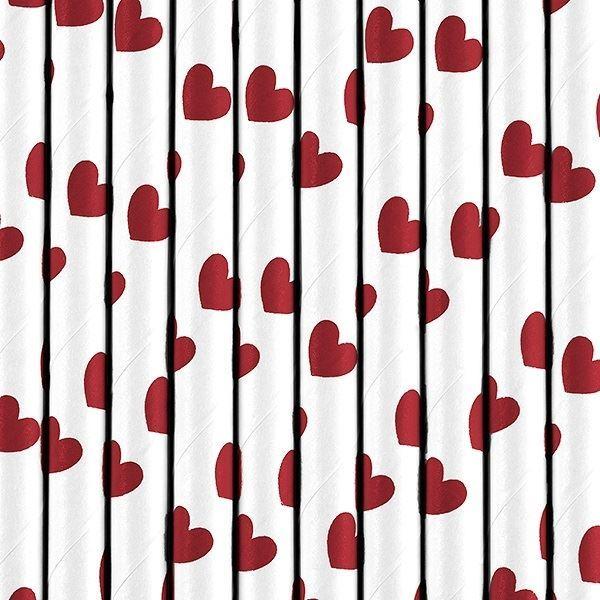 Imagen de Pajitas corazones rojos (10)